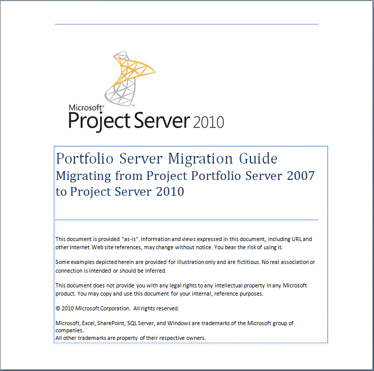 word 2007 project log